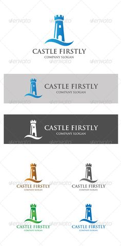 Castle Firstly Logo Design Template Vector #logotype Download it here:  http://graphicriver.net/item/castle-firstly/6014677?s_rank=1688?ref=nexion