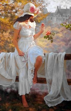 25 Beautiful Oil Paintings by Andrei Belichenko - Woman, Garden and Dreams on imgfave