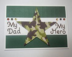 Military Dad Card Camouflage Hero Soldier Army by MamaJamaCrafts, $3.50