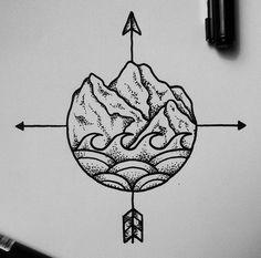 earthy compass tattoo ideas ▲ TATLUV | TATLUV