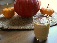 Pumpkin Smoothie with Pumpkin Pie Spices and Real Pumpkin