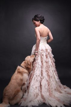 This WILL be one of my wedding pictures, the dog actually even looks like Cammie :)