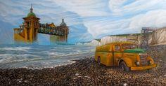 LAST RIDE | 87 x 47 cm | Acrylic Paint, Oil Pastels and Watercolour Pencils On Hardboard | ® Krzysztof Polaczenko 2015