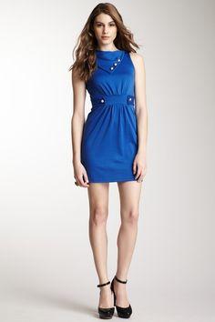 Hello Miss Cowl Neck Solid Sleeveless Dress