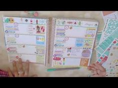 Plan With Me | Erin Condren Horizontal | Summer Theme | Collab - YouTube