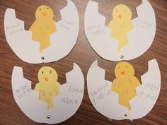 Cute Idea for Fact Families: Put the numbers on the chick and write the equations on the shell.