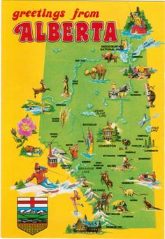 Greetings from Alberta: Visual Definition of a Canadian Province « Jasper National Park Journal Travel Guide by DH Wall – Alberta, Canada O Canada, Canada Travel, Vintage Travel Posters, Vintage Postcards, Vintage Maps, Red Deer Alberta, Alaska, Alberta Travel, Victoria Canada