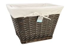 Rectangle Willow Basket with Liner, , hi-res, x 2