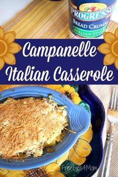 Who needs comfort food?  http://freebies4mom.com/campanelle #ad  Make my Campanelle Italian Casserole w/Progresso™ Bread Crumbs ~ your family will eat it up!
