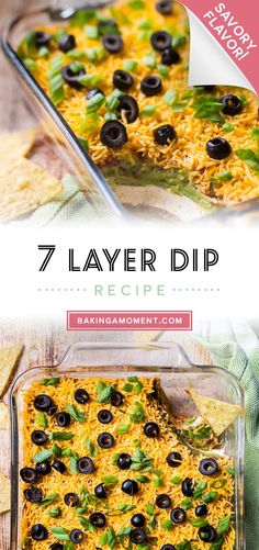 7-Layer Dip Recipe: So easy to make and it's the hit of every party. A beloved classic appetizer. #7layerdip #mexican #easy #recipe #party #best #withcreamcheese #withgroundbeef #withmeat #foracrowd #vegan #vegetarian #fourthofjuly #nobeans #videos #classic #christmas #traditional #withlettuce #cold #football #noolives #ingredients #withcorn #taco #withsalsa #superbowl #glutenfree #simple #appetizers #withhamburger #original #southwestern #ultimate #homemade #spicy #bakingamoment Make Ahead Meals, Easy Weeknight Meals, Easy Meals, 7 Layer Dip Recipe, Best Comfort Food, Comfort Foods, Dip Recipes, Easy Recipes, Breakfast Snacks