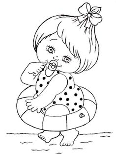 Baby Coloring Pages, Free Coloring, Coloring Books, Baby Girl Quilts, Girls Quilts, Embroidery Patterns, Hand Embroidery, Scrapbook Designs, Cartoon Pics