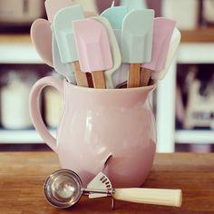 Pastel kitchen utensils. Elena's Tea Room: Passion for Baking