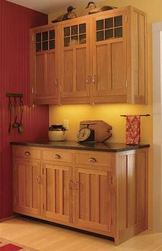 Love these cabinets -- Custom built for when we are able to re-do the kitchen?