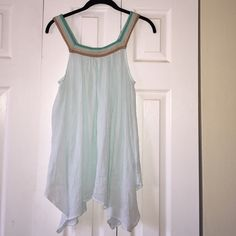 Calypso St Barths Cotton Dress w/ embroider straps ✨this is a beautiful sky blue 100% cotton tunic/dress. It is LIKE NEW. No flaws and amazing for the beach/summer/vacation✨ Calypso St. Barth Dresses