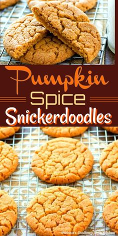 Fans of pumpkin and cookies will flip for this seasonal autumn spin on snickerdoodles with a crispy cinnamon sugar exterior and chewy center. Holiday Desserts, Holiday Baking, Fun Desserts, Delicious Desserts, Halloween Desserts, Healthy Desserts, Pumpkin Cookies, Pumpkin Dessert, Pumpkin Recipes