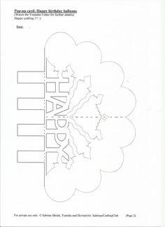 Pop up card: happy birthday Page 2 by SabrinasCraftingClub on DeviantArt