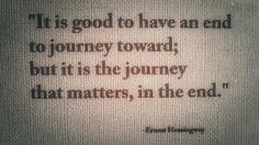 One of my favorite Hemingway quotes on a high-quality print from @Erica Massaro. -Nicholas Trandahl