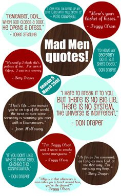 Classic Mad Men quotes - which one is your favorite?