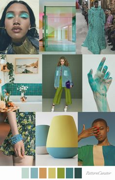 Pattern Curator delivers color, print and pattern trends and inspiration. Color Trends, Color Combos, Mood Colors, Colour Pallette, Look Fashion, Fashion Design, 2020 Fashion Trends, Spring Summer Trends, Collage