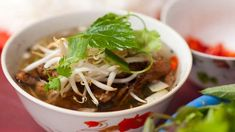 Chargrilled pork patties with Vietnamese herbs (bun cha) recipe : SBS Food. Lovely Luke Nguyen.
