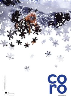Coro is an Italian design company. The project is a print campaign. The concept was created to show the functionality and resistance of the products in every season Leaflet Design, Ad Design, Book Design, Cover Design, Print Design, Design Cars, Portfolio Covers, Portfolio Design, Newsletter Layout