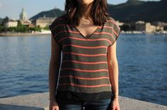 Ladulsatina sewing blog - Blog di cucito   blouse in vintage fabric cover