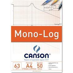 Papel Mono-Log CansonA4 63g/m²