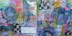 Frieda Oxenham: Love Winter journal page; Feb 2017 #friedaoxenham #artjournal #journalpage #mixedmedia