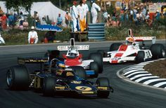Sweden's own Ronnie Peterson in a Lotus 72E during the Swedish Grand Prix at Anderstorp, 1975