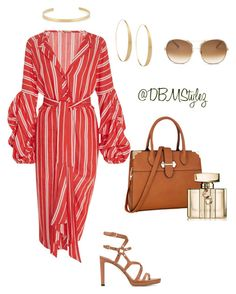 """The Lady in Red ❤️"" by daisha-brianne on Polyvore featuring Johanna Ortiz, Jimmy Choo, Dasein, Lana, Jennifer Fisher, Gucci and Chloé"