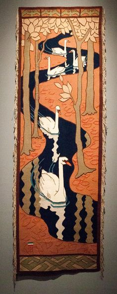 Are you kidding me with this? Rare wood inlay and intricate carving- Art Nouveau- Otto Eckmann
