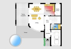 Luxury Villa Inspired From Macedonia – Amazing Architecture Magazine Village House Design, Duplex House Design, Country House Design, Dream Home Design, Home Design Plans, Modern House Design, House Layout Plans, House Plans One Story, House Layouts