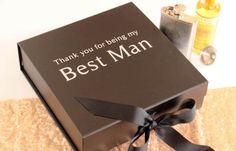 Best Man Wedding Keepsake Gift BoxWedding Thank You Gift Box