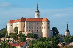 Czech republic - Mikulov chateaux Enjoy your stay in the Czech Republic in one of the Orea Hotels chain, the biggest hotel chain in our country www. Medieval Castle, Europe, Town Hall, End Of The World, Czech Republic, Cathedral, Places To Visit, Mansions, Country