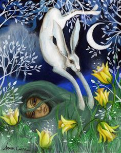 Spring Equinox:  Hare for the #Spring #Equinox.