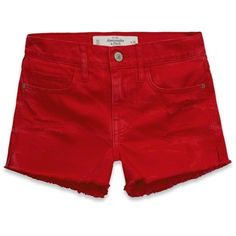 Abercrombie & Fitch High Rise Shorts ($20) ❤ liked on Polyvore featuring shorts, hot pink, vintage high waisted shorts, distressed shorts, short shorts, hot pink shorts and vintage shorts