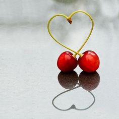 I like this still life shot as the way the cherries stems create a love heart shape makes this a fun image, and the reflection makes this image strong