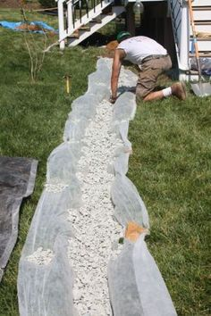 detailed info on when and how to put in a french drain, and when to call in the professionals