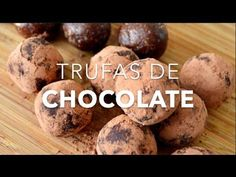 Trufas de chocolate saludables (listas en 10 minutos)