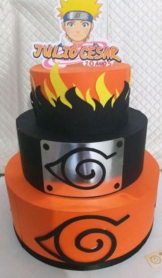 Bolo Fake, Bolo Naruto, Naruto Birthday, Anime Cake, Scrap, Themed Cakes, Holidays And Events, Cake Designs, Birthday Party Themes