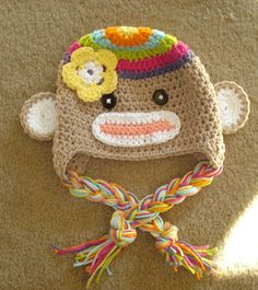 cute sock monkey hat!