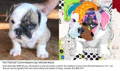 Canvas Art Prints & Wall Art and Original Paintings of Michel Keck Collages, Collage Artists, Dog Pop Art, Dog Tumblr, Dog Artist, Artist Painting, Artist Canvas, Canvas Art Prints, Canvas Collage
