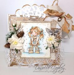 Whimsy Heidi by Sylvia Zet card for Scrapbook Maven using So Lovely Tag Doohickey