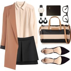 Back to Work by sweetpastelady on Polyvore featuring H&M, Oasis, Simone Rocha, Zara, Sonia Rykiel, Daniel Wellington, Nouv-Elle, All Day, Graphic Image and women's clothing