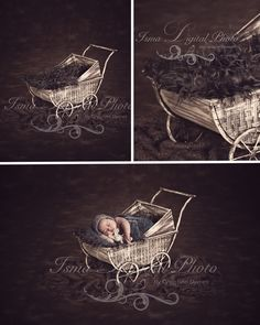 Stroller With Dark Bacground - Beautiful Digital background Newborn Photography Props download