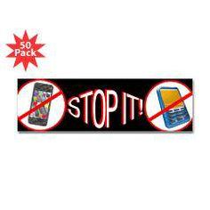 Stop It Bumper Sticker > Storecee.com