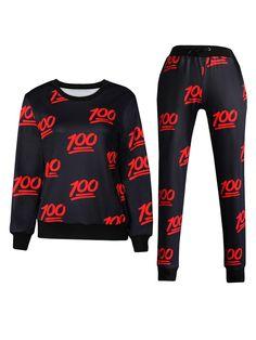 Black 100 Emoji Printed Clothing Sale Emoji T-Shirts Hoodies for Girl/Boy - WSDear.com