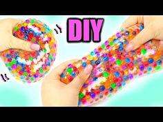 DIY Liquid Squishy Balls! Orbeez & Glitter Liquid Stress Balls! - YouTube