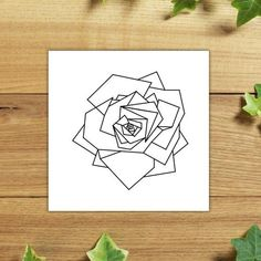 Items similar to Geometric rose - Temporary tattoo (Set of on Etsy Rosa Origami, Origami Rose, Tasteful Tattoos, Small Tattoos, Cool Tattoos, Tatoos, Geometric Rose Tattoo, Geometric Drawing, Irezumi