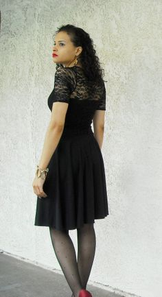 ON SALE Black Lace Circle Skater Dress with Sweetheart Neckline and Mid Sleeves Petite Tall Plus Sizes xs small med large xl xxl 3x 4x 5x on Etsy, $41.50